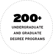 York University has 200+ undergraduate and graduate degree programs